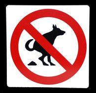 Kunststof aanduidingsbord verboden honden uit te laten -Online Deurbeslagshop