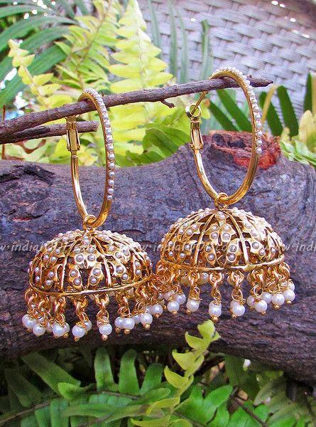 Stunning Pearl Jhumka