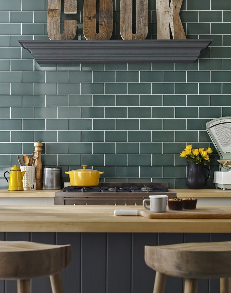 Raspberry Kitchen Tiles