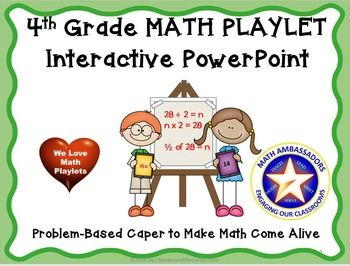 4th Grade Interactive Math Playlet: Smelly Pencils. This is an engaging PowerPoint presentation designed for 4th grade math. Click open the Preview and try it before you buy it. A math playlet is a one act play designed for interactive mental math. Your kids will love applying math strategies they've learned to the collaborative, real-life interactive story settings.
