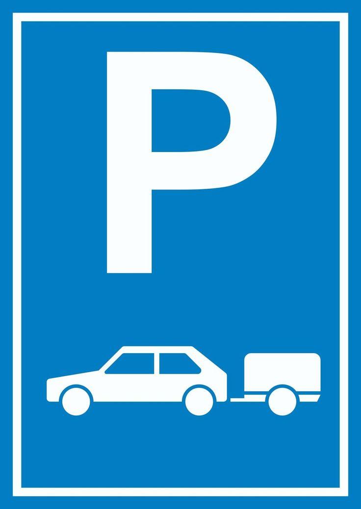 Parkplatzschild für Gespanne, Autos mit Anhänger #autos #kfs #anhänger #parken #parkplatz #schilder