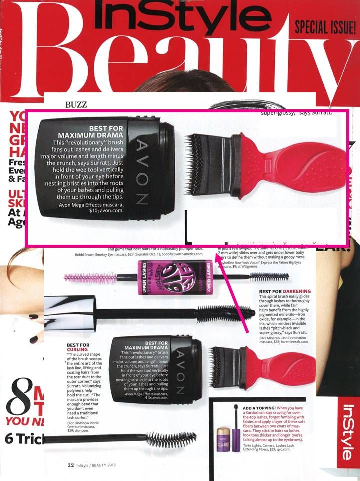 #MegaEffects Mascara featured in the Fall special beauty issue of @InStyle Magazine