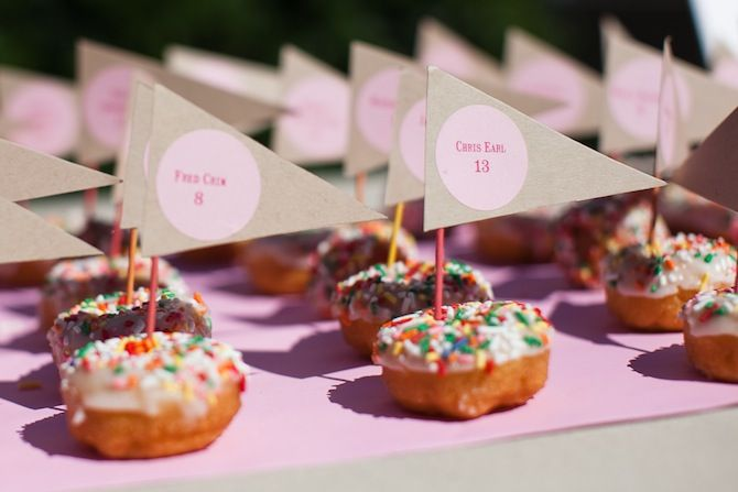 I love this idea because I love donuts and this is EXCITING.  But what happens when you don't want the donut?  Then what?  Maybe just don't invite non-donut lovers?
