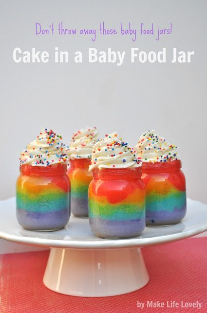 things to make with baby food jars | Cake+in+a+Baby+Food+Jar%2C+Upcycled+Baby+Food+Jars%2C+by+Make+Life ...