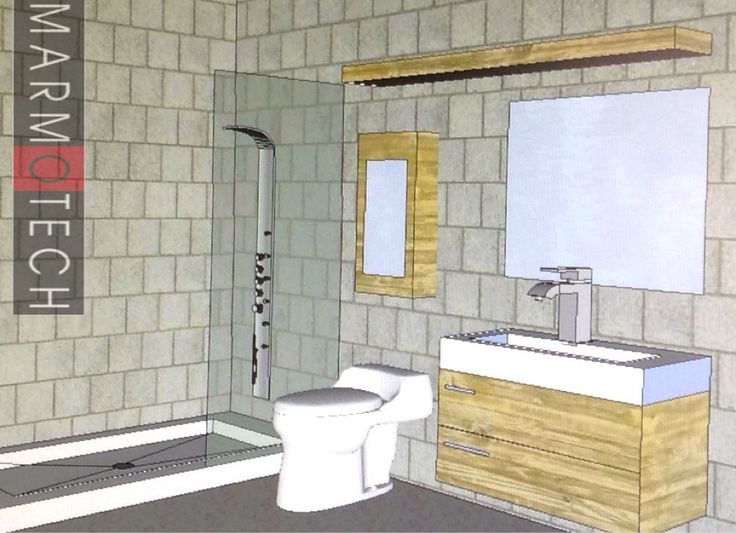 Shower base ONE single piece - plena y of atorare space. Marmotech 787-720-8500