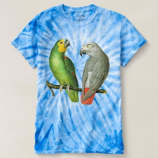 Vintage Parrots V1 Retro Style Tie-Dye T-Shirt