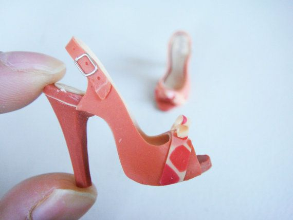 Miniature High Heel Shoes  Handmade from Polymer Clay by YinyingO, $38.00