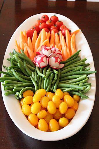 simple plate of fresh vegetables