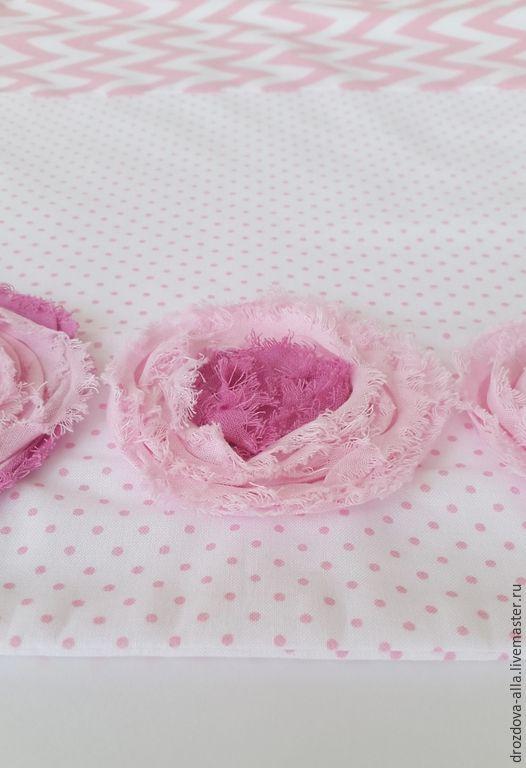 """Купить Комплект детского постельного белья """"Розовые сны"""" - розовый, нежно-розовый, горошек, сердечки"""