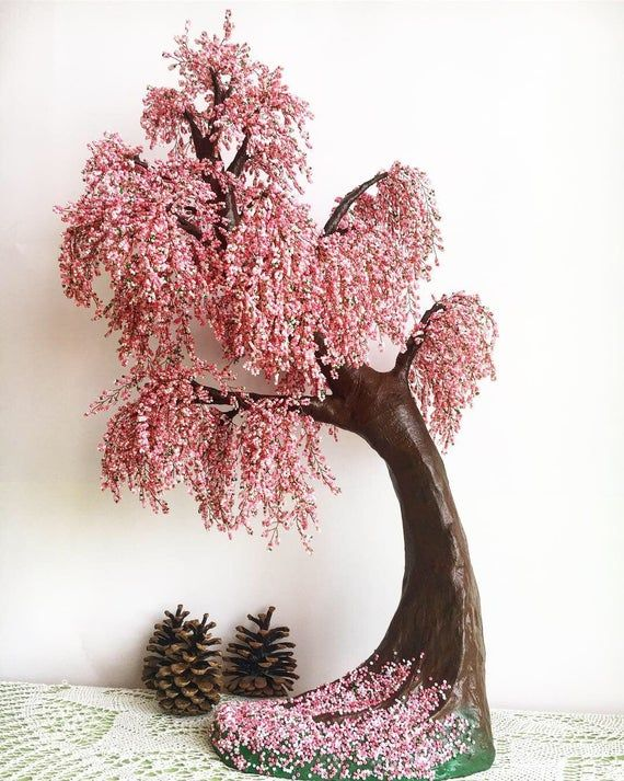 Large Cherry Blossom Bonsai Tree Live Bonsai Tree Tree Of Life Etsy Cherry Blossom Bonsai Tree Wire Tree Sculpture Tree Sculpture