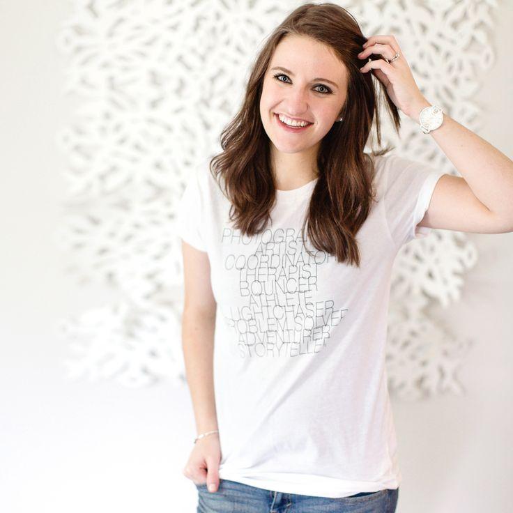 Women's Wedding Photographer Job Description T-Shirt (2 Colors Available!)
