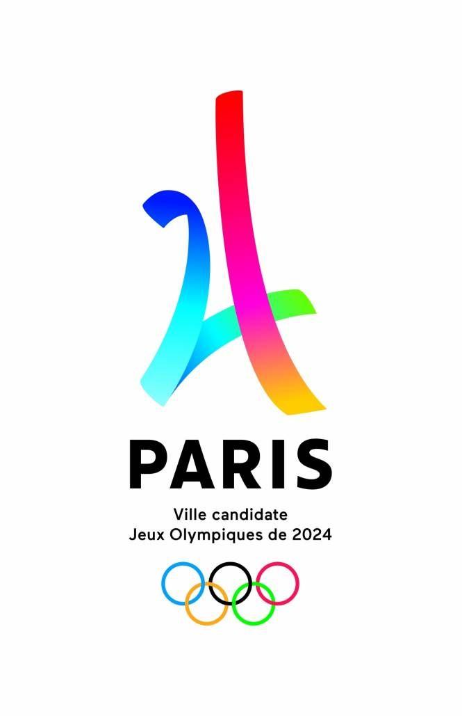 Le logo officiel de la candidature de Paris pour les Jeux Olympiques d'été 2024 a été dévoilé mardi, un mélange stylisé de la Tour Eiffel et du nombre 24.