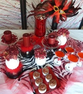 Red masquerade theme for bachelorette..... Sooo want this theme!!!!!