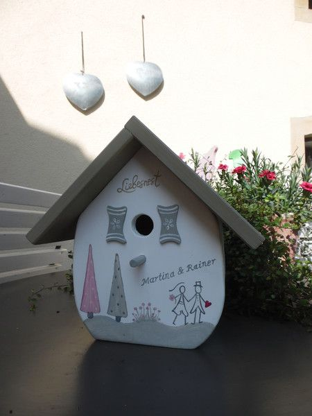 Nistkästen & Vogelhäuser - Vogelhaus Nistkasten Vogelvilla Hochzeitsgeschenk - ein Designerstück von inse-10 bei DaWanda