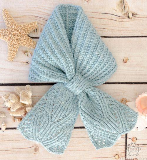 Chantilly Lace Ascot PDF knitting pattern from Pam Powers Knits