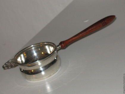 Винтажная посуда. винтажное посеребренное ситечко для чая. CENERENTOLA. милые безделушки. Ярмарка Мастеров. Винтажное, посеребренныи металл