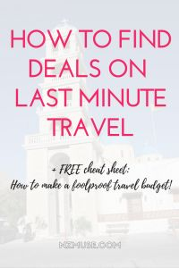 Budget travel | Travel hacks | Travel deals | Last minute travel deals | How to save money on travel | Frugal track tips | Cheap travel