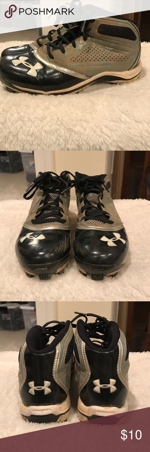 Under Armour kids cleats. 🌸 Fair condition. Obvious wear and tear. Muddy in areas, but can come out in wash. Under Armour Shoes Sneakers