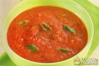 Receita de Molho de tomate com manjericão - Comida e Receitas
