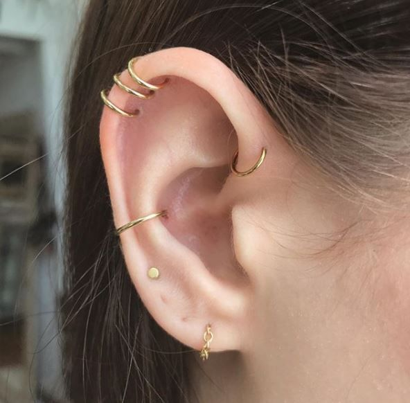 Ear Constellation By Adrian Castillo Lifestyle In 2019 Cute Ear