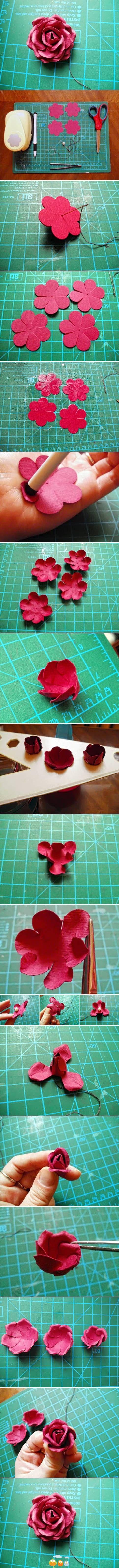 Inspirational Monday - Do it yourself (diy) Flower series - DIY paper rose flower