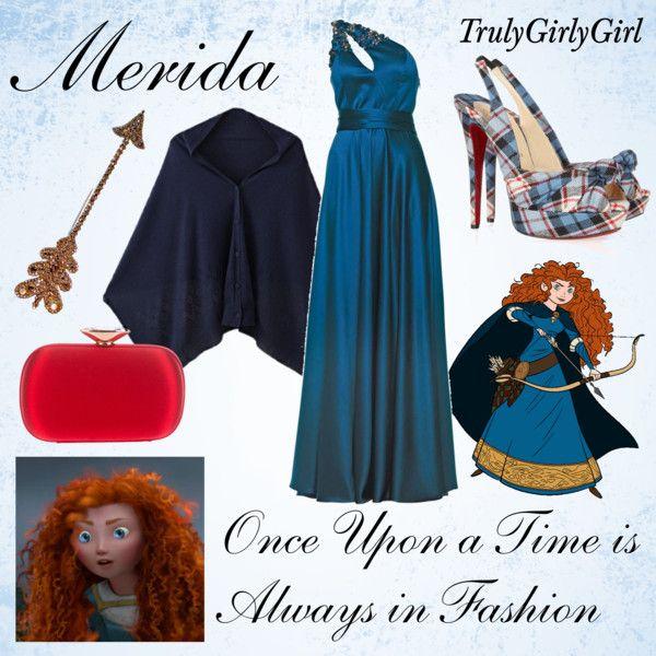 """""""Disney Style: Merida"""" by trulygirlygirl on Polyvore.  El vestido!!!! los zapatos están como que no..."""