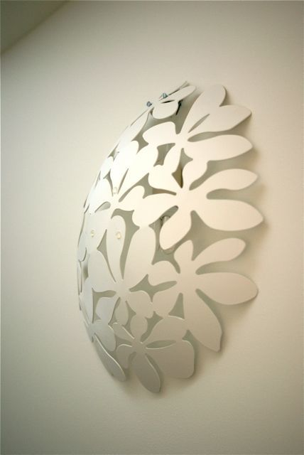 Ikea fruitbowl lamp:  need to do something like this to hide the ugly doorbell chime box