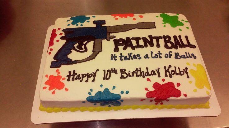 Paintball gun sheet cake