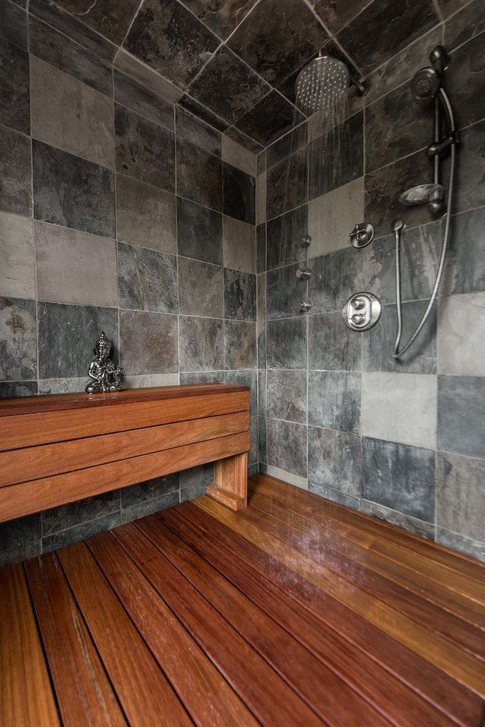 Fun DIY Project Shower! Cumaru is comparable to IPE and TEAK can last uo to 50 years www.decktogo.com