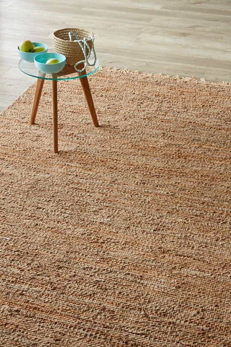 Dhurrie Weave of Recycled Leather, jute and cotton, Hide & Seek is a beautiful natural combination. 1.6 X 2.3 meters.