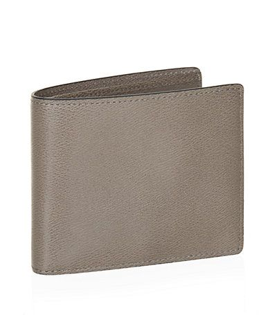 #Mulberry Leather Wallet in Dark Grey