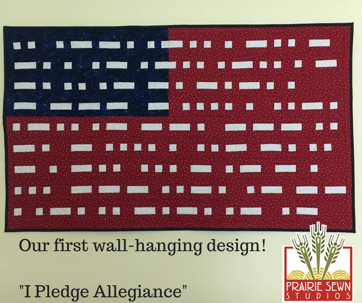 """First self-drafted wall hanging pattern! """"I Pledge Allegiance"""" [self-drafted/I Pledge Allegiance] #sewing #crafts #handmade #quilting #fabric #vintage #DIY #craft #knitting"""