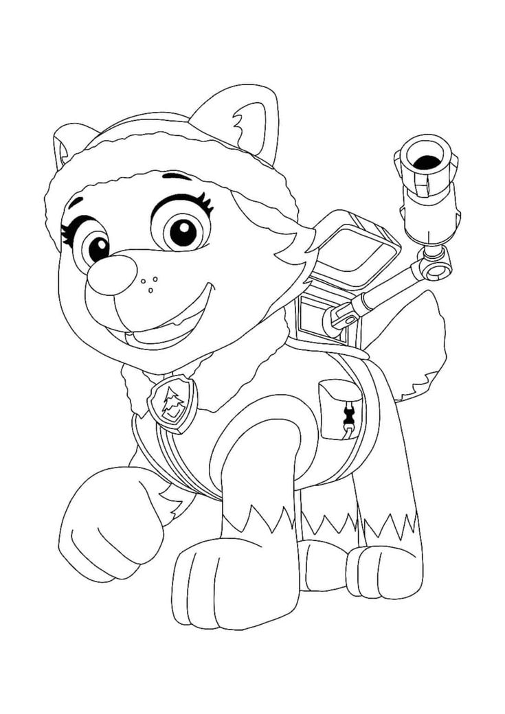 paw patrol everest coloring pages  4 free printable