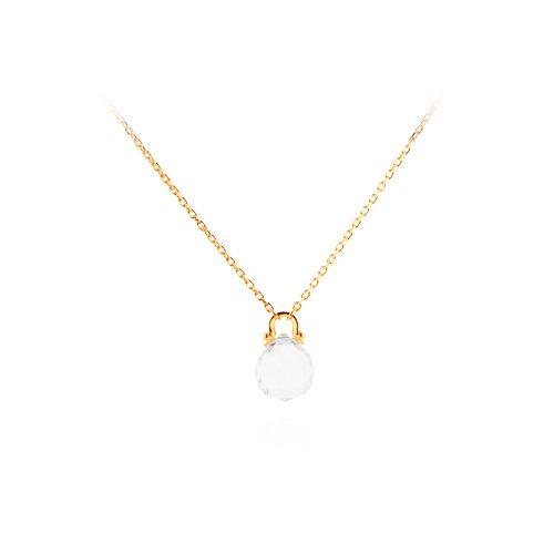 Colar Cristal - folheado em ouro, prata, rose ou prata negra Peça com cristal de 23 mm Peso: 30 grs Comprimento (s): 30 cm e 60 cm Ref: E044 Link: www.gsstore.com.br