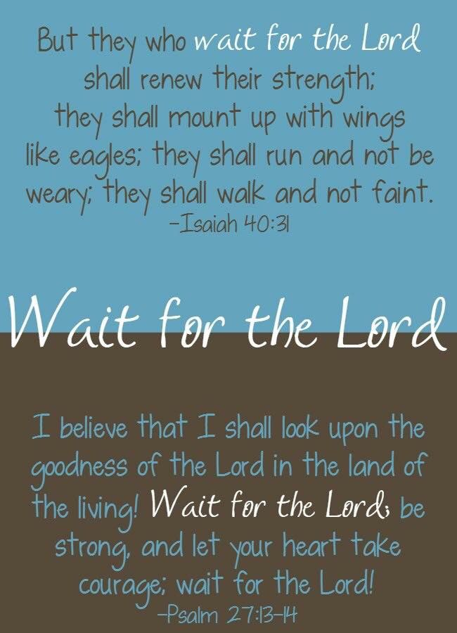 Quotes About Waiting On God Simple The 25 Best Wait Upon The Lord Ideas On Pinterest  Bible Verses