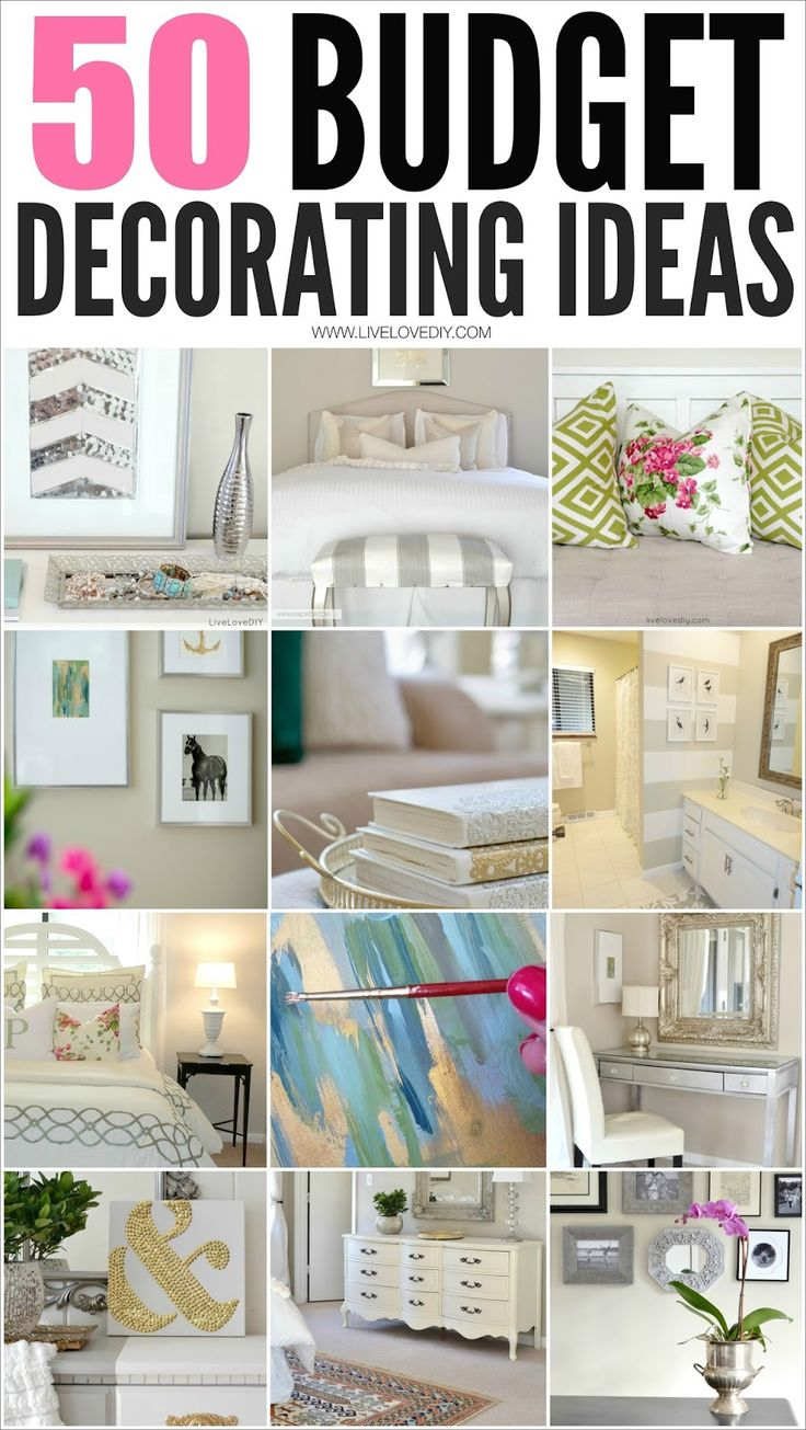 50 Budget Decorating Tips Everyone Should Know! I Especially Love #4! Budget  DecoratingApartments DecoratingBedroom Decorating IdeasDecor ...