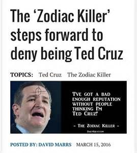 Ted Cruz zodiac killer - Yahoo Image Search Results