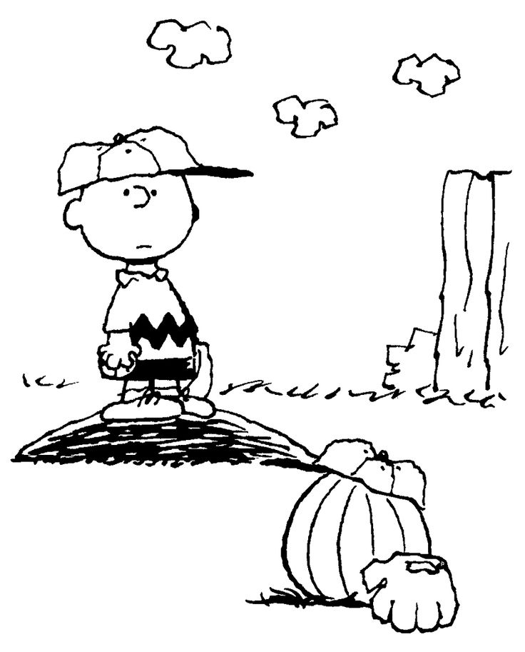 linus great pumpkin coloring pages - photo#25