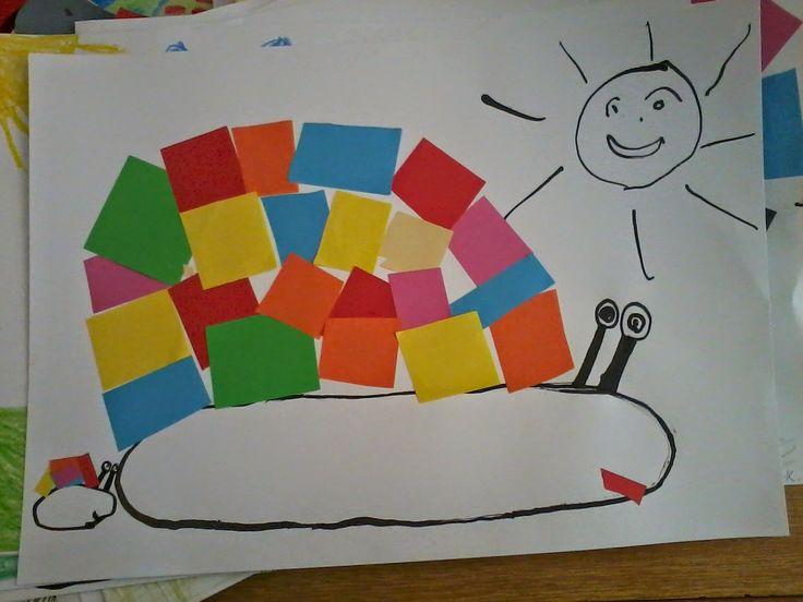 Tvoříme s dětmi  ☺: Šnek ala Henri Matisse