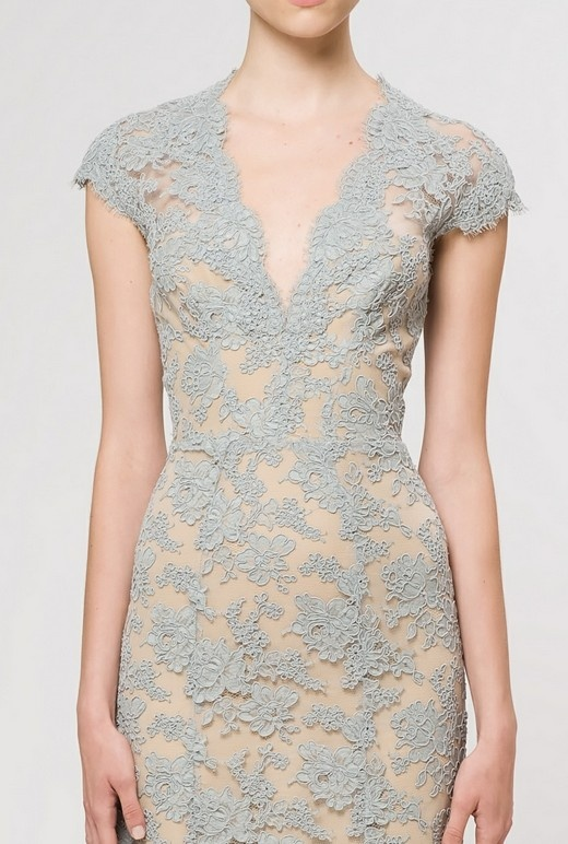 Beautiful grey, lace dress.
