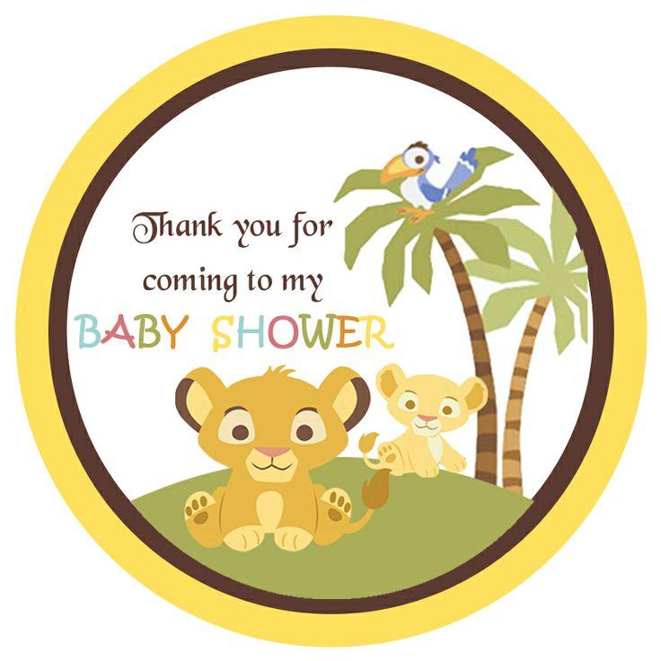 Amazing Simba Lion King Baby Shower Gift Tags $2.99