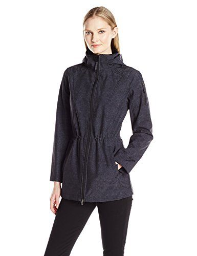 New Trending Outerwear: Free Country Women's Softshell Anorak, Black (Tweed Print), S. Special Offer: $77.00 amazon.com Anorak soft shell jacket with draw cord at waist line, removable hood.Draw cord waistRemovable hood