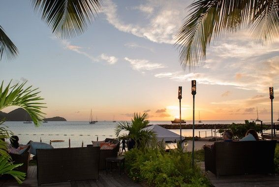 Turquoise Beach Bar at the Landings resort in Rodney Bay St Lucia
