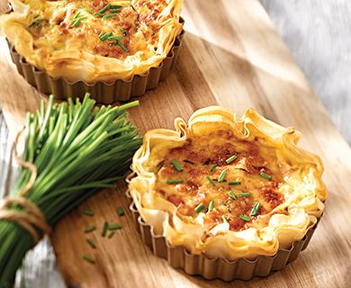 Smoked Trout and Havarti Tartlets #appetizer #trout