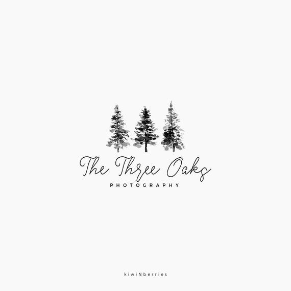 Tree Logo Design Black And White Logo Minimalist Logo Etsy Tree Logo Design Black And White Logos Logo Design