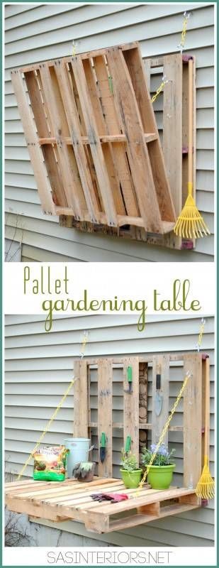Vertical pallet gardening table in pallets 2 garden 2 diy  with vertical Table pallet
