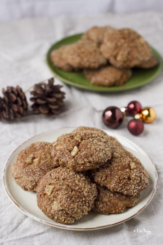 vegán gyömbéres-fűszeres keksz