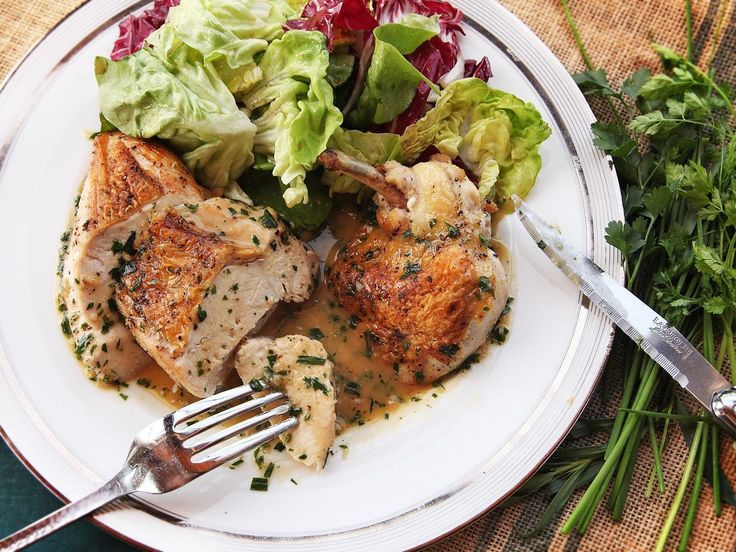 Easy Pan-Roasted Chicken Breasts With White Wine and Fines Herbes Pan Sauce Recipe   Serious Eats