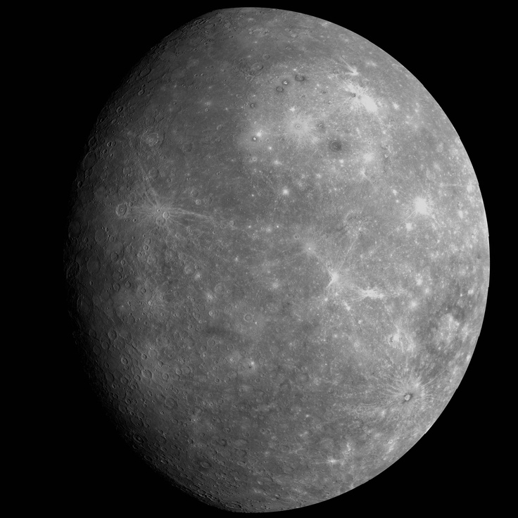 The Planet Mercury - Facts and Photos. Mercury - the closest of all planets to the Sun. At first glance Mercury resembles nothing more closely than our own Moon - a barren rocky world strewn with craters.  #Mercury is the planet closest to the Sun, but not the hottest. Find out which planet is: http://astronomyisawesome.com/solar-systems/cool-facts-about-mercury/ #astronomy
