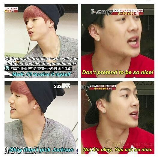 Hahahahahha Mark and Jackson of #Got7